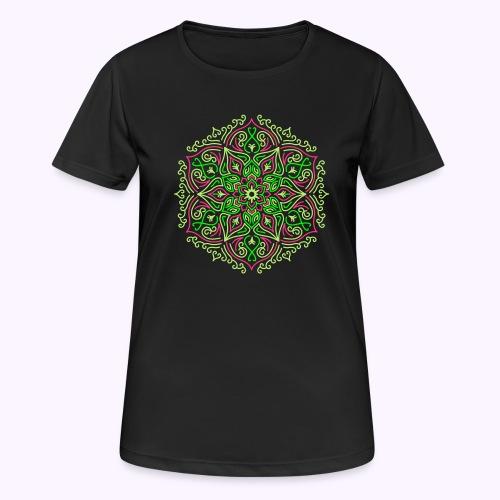 Mandala de loto de fuego - Camiseta mujer transpirable