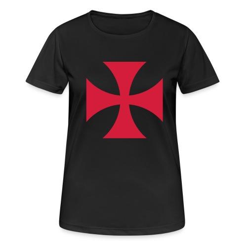 The Templar Cross Shirt - Frauen T-Shirt atmungsaktiv