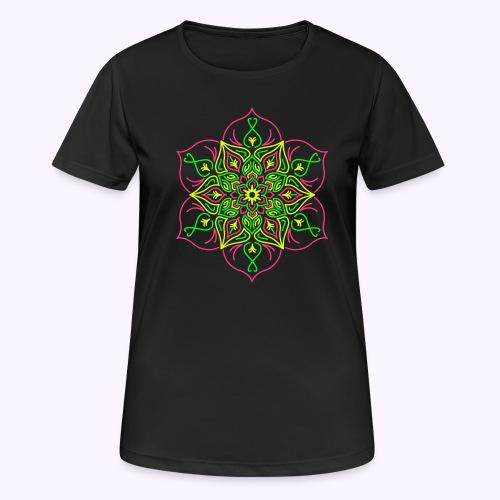 Flor de loto de fuego - Camiseta mujer transpirable