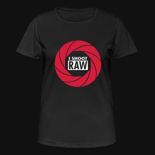 I SHOOT RAW - Frauen T-Shirt atmungsaktiv