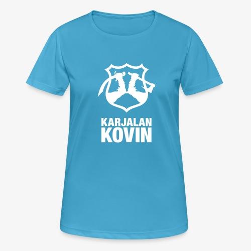 karjalan kovin pysty - naisten tekninen t-paita