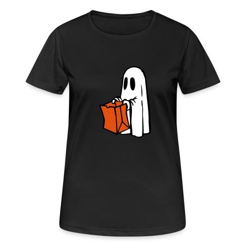 Geist mit Tüte 3farbig - Frauen T-Shirt atmungsaktiv