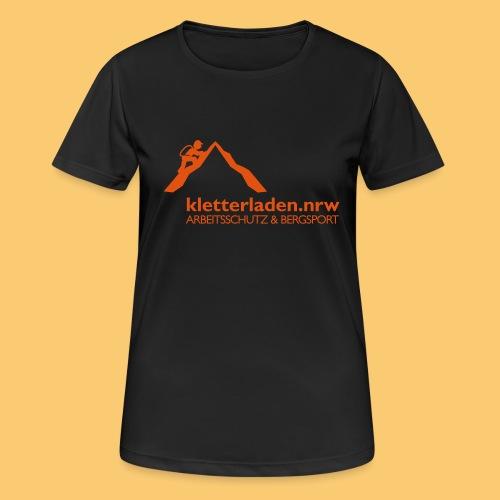 Logo mit Subline_kletterl - Frauen T-Shirt atmungsaktiv