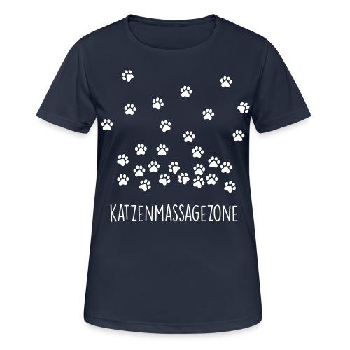 Vorschau: Katzen Massage Zone - Frauen T-Shirt atmungsaktiv