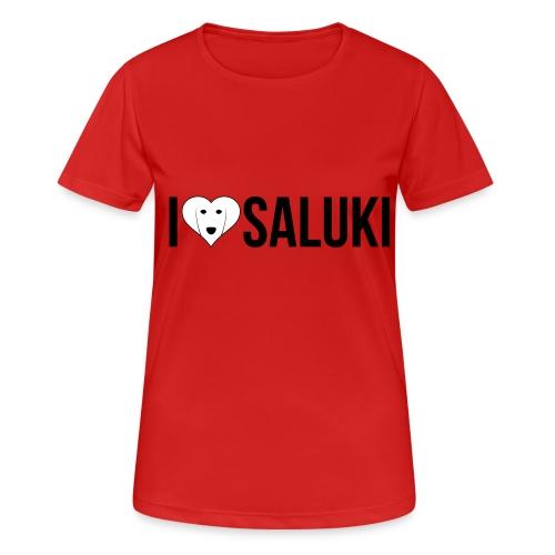 I Love Saluki - Maglietta da donna traspirante