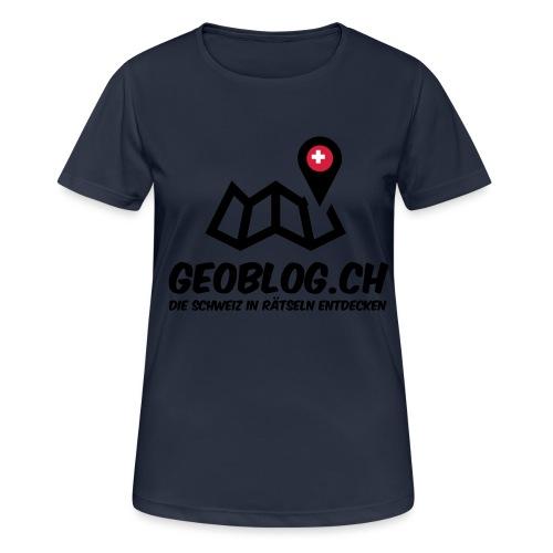 Logo+Schriftzug-hoch - Frauen T-Shirt atmungsaktiv