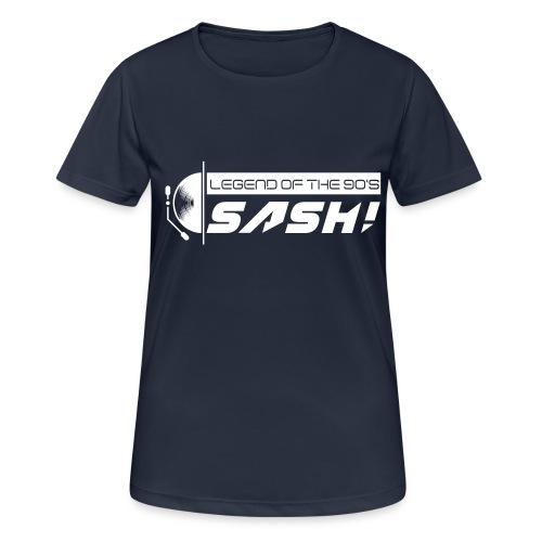 DJ SASH! Turntable Logo - Women's Breathable T-Shirt