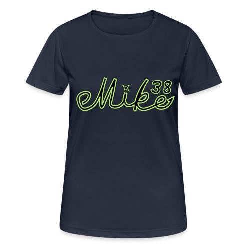 mike38teksti - naisten tekninen t-paita