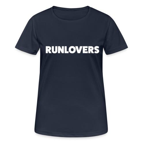Runlovers Black - Maglietta da donna traspirante