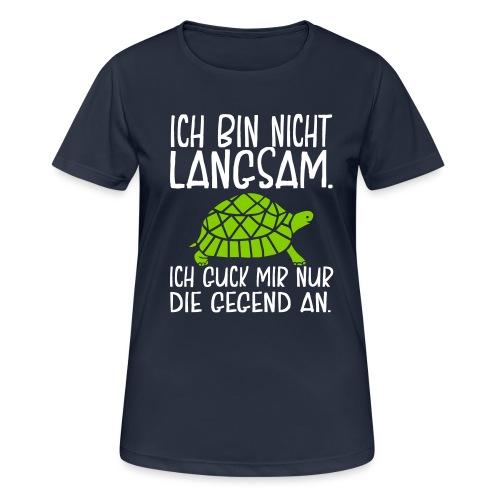Lustige Sport Sprüche Laufen Sport Langsam Läufer - Frauen T-Shirt atmungsaktiv