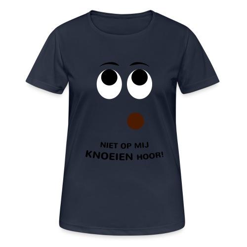 Grappige Rompertjes: Niet op mij knoeien hoor - Vrouwen T-shirt ademend actief