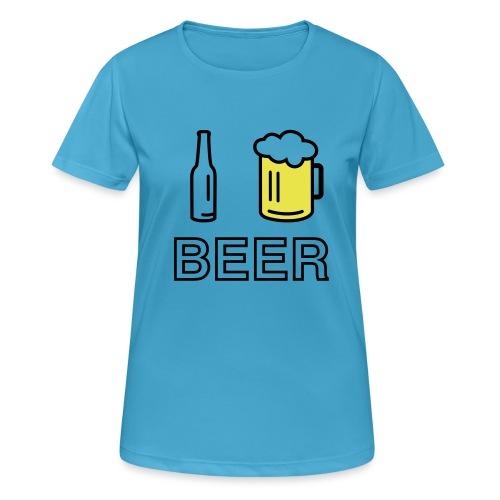 I Love Beer (2-farbig) - Frauen T-Shirt atmungsaktiv