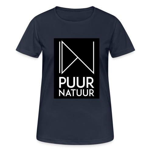 Logo puur natuur negatief - Vrouwen T-shirt ademend actief