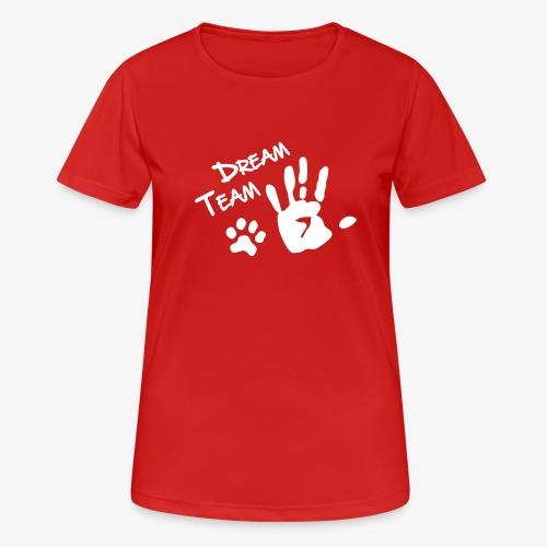 Dream Team Hand Hundpfote - Frauen T-Shirt atmungsaktiv