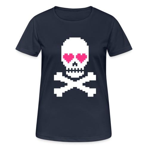 Skull Love - Vrouwen T-shirt ademend actief