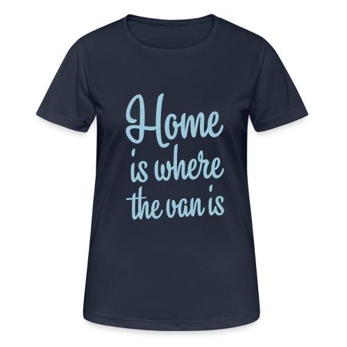 camperhome01b - Pustende T-skjorte for kvinner