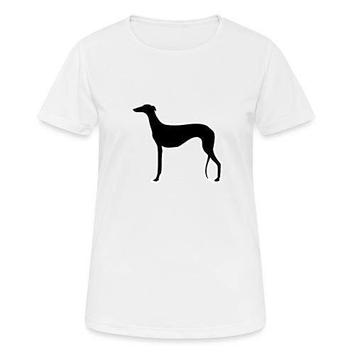 Galgo stehend - Frauen T-Shirt atmungsaktiv