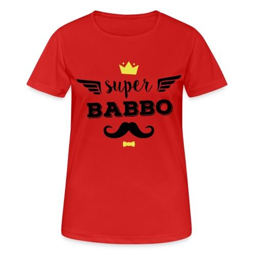 Super Babbo - Maglietta da donna traspirante