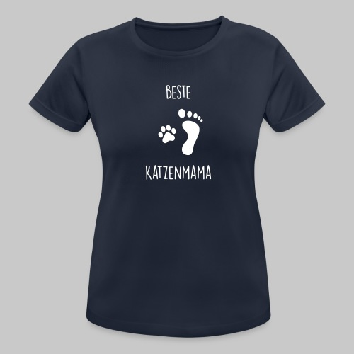 Beste Katzenmama - Frauen T-Shirt atmungsaktiv