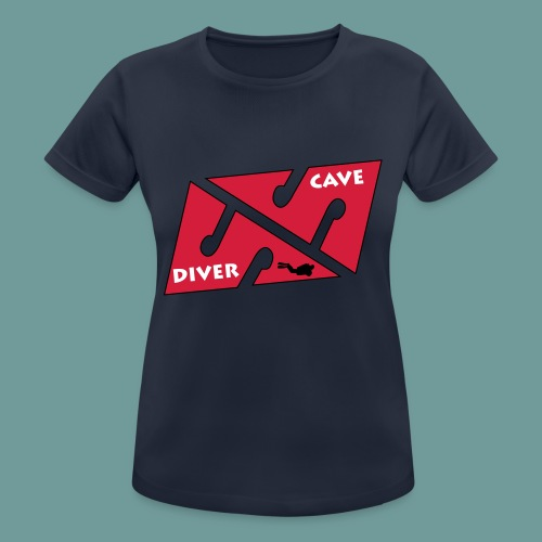 cave_diver_01 - T-shirt respirant Femme