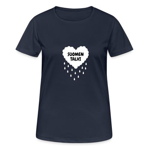 Suomen talvi - naisten tekninen t-paita
