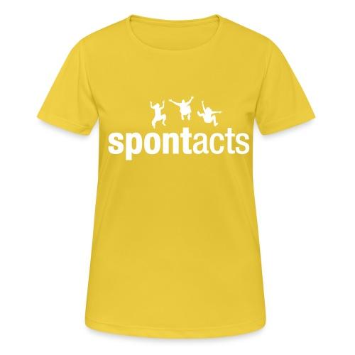 spontacts_Logo_weiss - Frauen T-Shirt atmungsaktiv