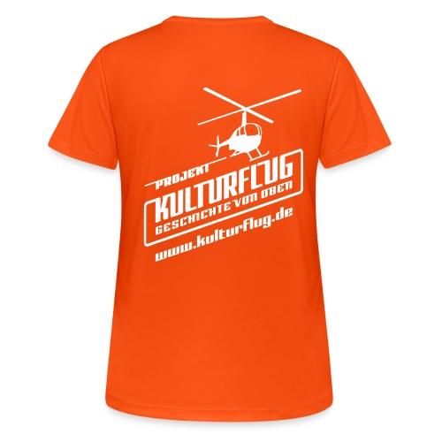 Kulturflug_white_28x28_ww - Frauen T-Shirt atmungsaktiv