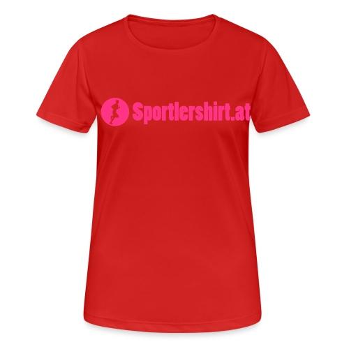 Sportlershirt Logo Text - Frauen T-Shirt atmungsaktiv