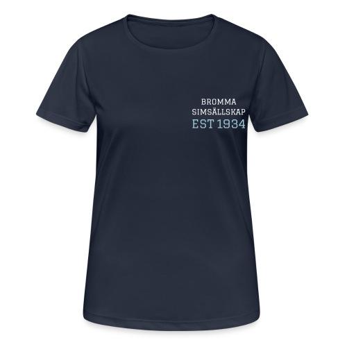 BSS text och logga - Andningsaktiv T-shirt dam