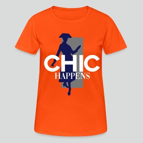 chic happens - Frauen T-Shirt atmungsaktiv
