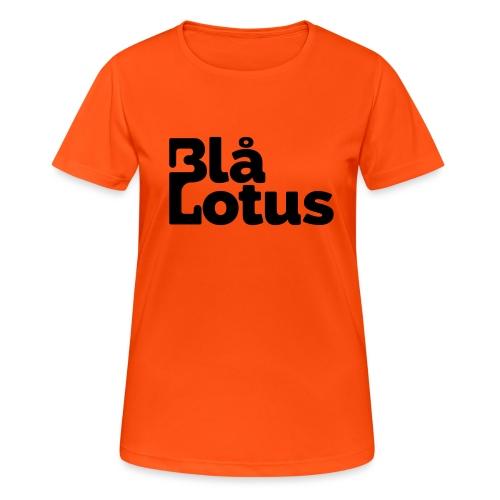 Blå Lotus_logo - Andningsaktiv T-shirt dam