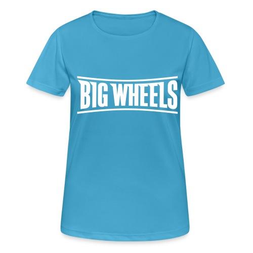 Big Wheels Plain - naisten tekninen t-paita
