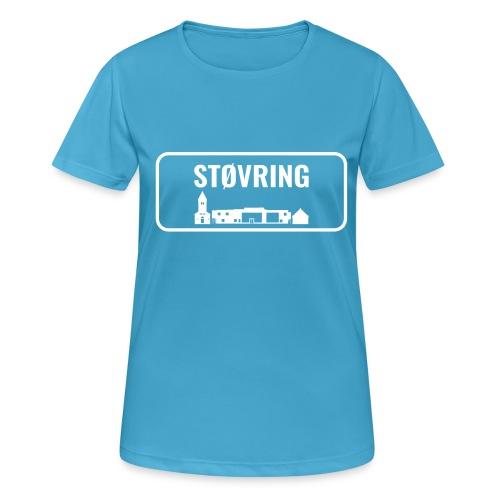 Støvring Byskilt New - Dame T-shirt svedtransporterende