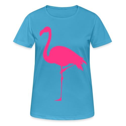 Freaking Flamingo - Andningsaktiv T-shirt dam