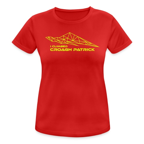 I climbed Croagh Patrick Geometric Design - Women's Breathable T-Shirt