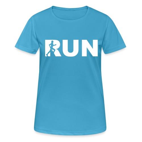 run running woman - Frauen T-Shirt atmungsaktiv