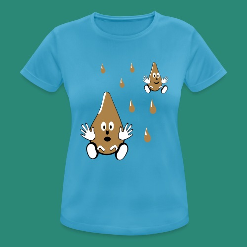 Tropfen - Frauen T-Shirt atmungsaktiv