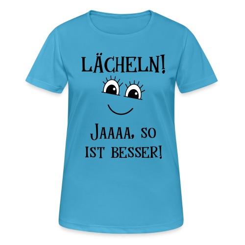 Lächeln Lachen Glückliches Gute Laune Gesicht - Frauen T-Shirt atmungsaktiv