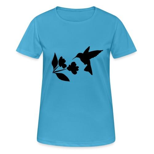 kolibrie met bloem - Vrouwen T-shirt ademend actief