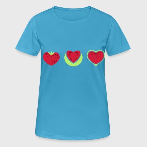 Fraise pastèque Figue - T-shirt respirant Femme