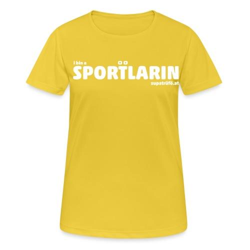 i bin a supatrüfö sportlarin - Frauen T-Shirt atmungsaktiv