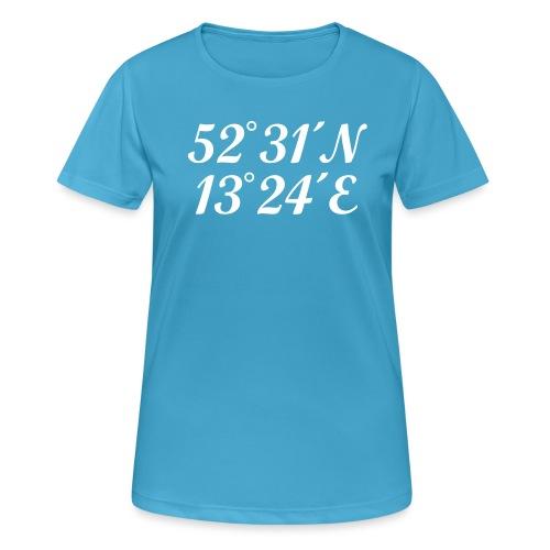 Berlin Koordinaten - Frauen T-Shirt atmungsaktiv