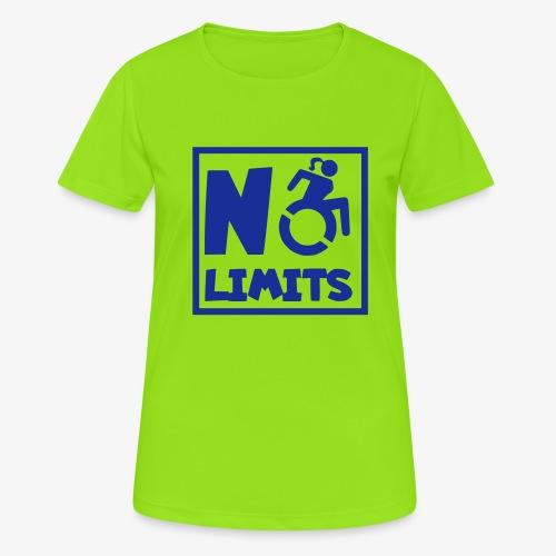 Geen grenzen voor deze dame in rolstoel - Vrouwen T-shirt ademend actief