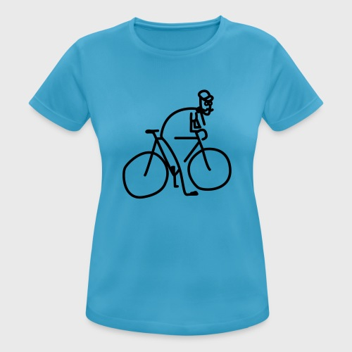 Vélo et cycliste à moustaches - T-shirt respirant Femme