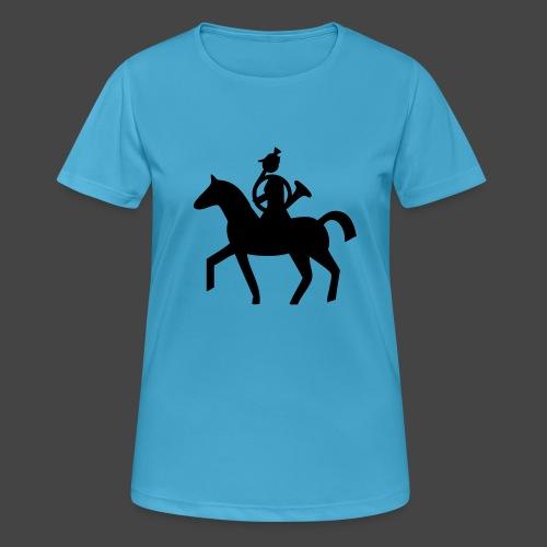 Parforcehornbläserin zu Pferd-Shirt für Jägerinnen - Frauen T-Shirt atmungsaktiv