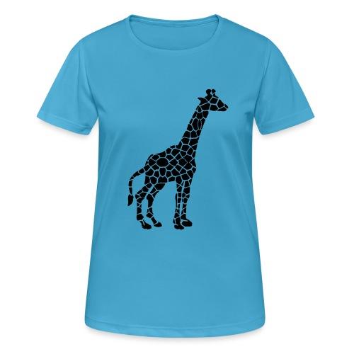 Giraffe (black) - naisten tekninen t-paita
