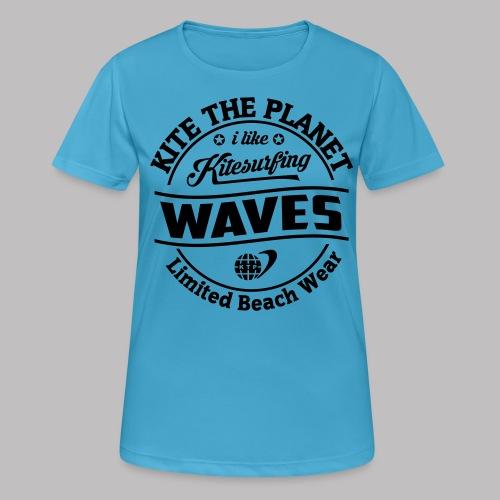 waves water ktp - Frauen T-Shirt atmungsaktiv