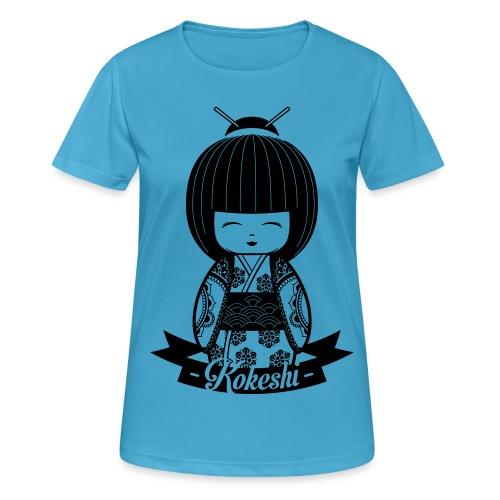 Kokeshi Black - Frauen T-Shirt atmungsaktiv