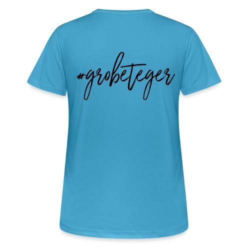 #grobeteger - Frauen T-Shirt atmungsaktiv