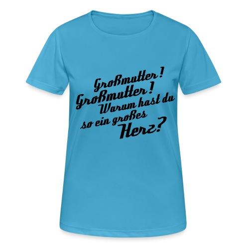 Großmutter - Vorderseite - Frauen T-Shirt atmungsaktiv